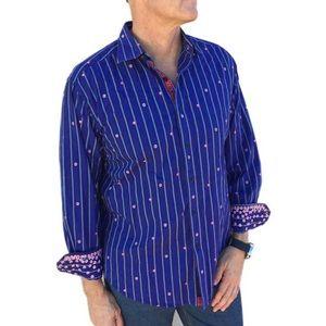 Robert Graham Men's blue shirt